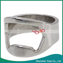 Factory Direct Sale Individuality Stainless Steel Finger Ring Bottle Opener