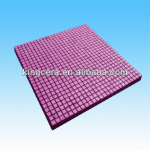 Ceramic and rubber composite lining for coal hopper(250*250*10mm)
