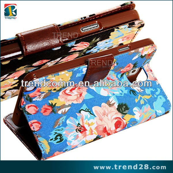 Fashion new design wallet bag leather case for samsung galaxy note3 cases