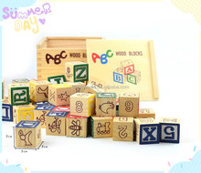learning alphabet educational letter wooden blocks