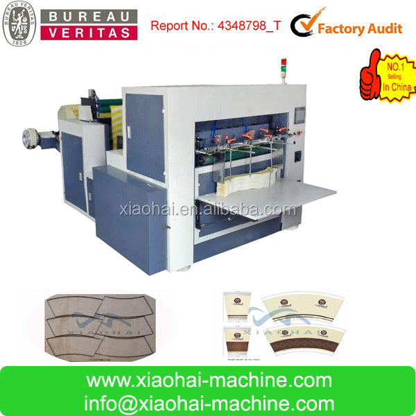 Automatic roll paper feeding die cutting machine for paper cup with wooden mould