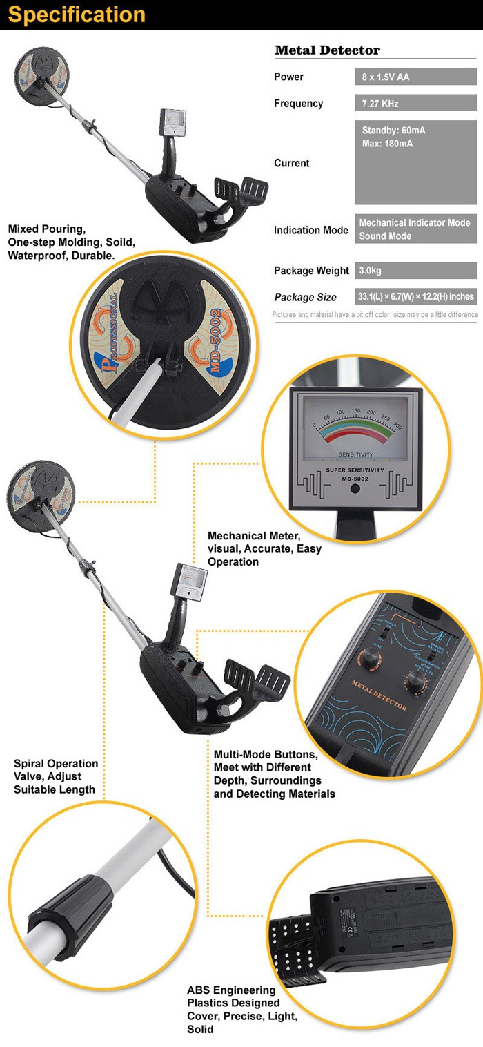 MD-5002 Ground Search Metal Detector Gold Metal Detector
