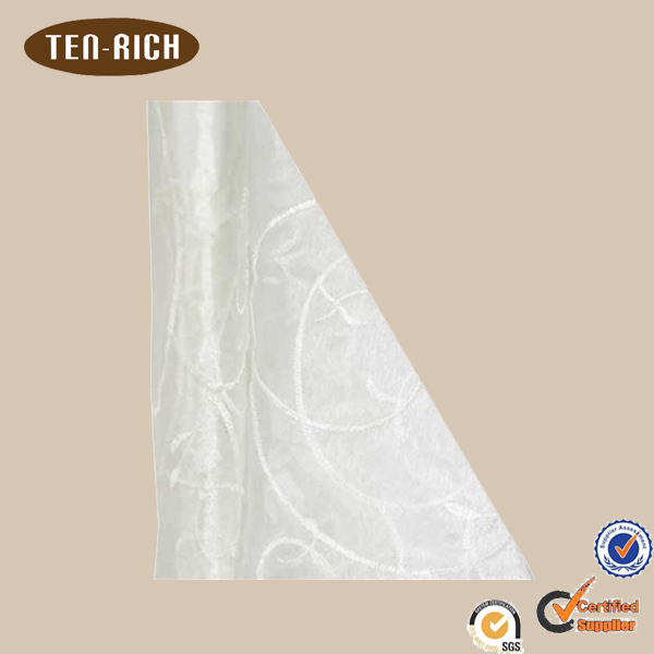 wholesale embroidered organza fabric white for decoration