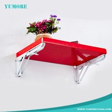 Metal wooden shelve folding table adjustable angle bracket joint, fold down shelf bracket