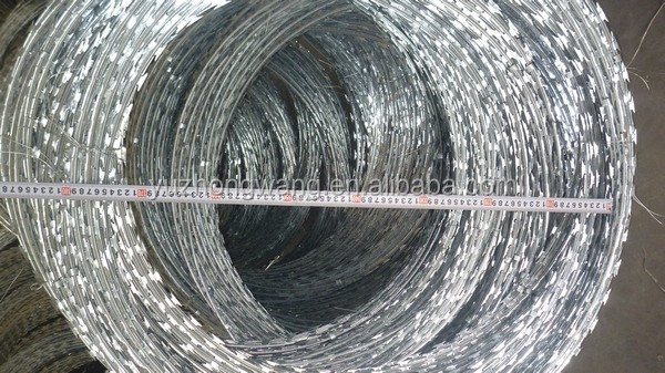 Galvanized/PVC Coated Razor barbed wire( Anping factory, since 1993 )