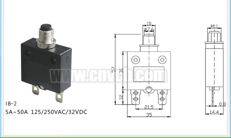 017 IB-2 40A Hot Sale Professional Overload Relay 125VAC/250VAC/32VDC thermal overload switch