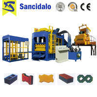 QT10-15 automatic cement hydraform block making machine price