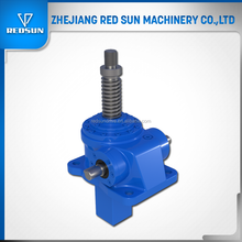 Redsun Hot Sale 25KN Worm Gear Manual Operated Screw Jack with motor for Table Lifting or Pressing