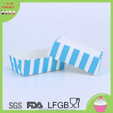 Blue striped rectangular cake/Muffin Baking Cups
