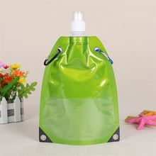 Unique design eco friendly material liquid food packaging drinking spout bag