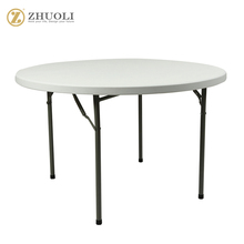 round cheap folding plastic outdoor dining table
