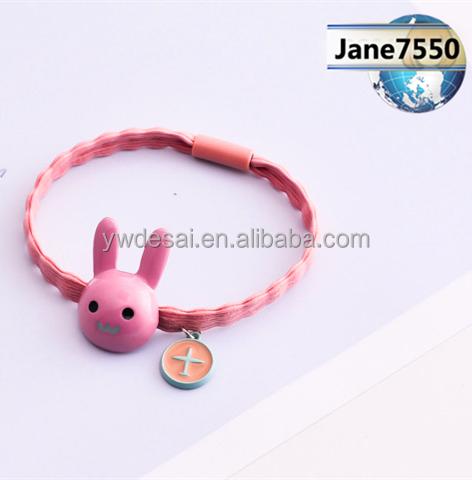 Alloy small rabbits/small animals/multicolored high elastic rubber/hair coil/hair line/hair line/hair accessories