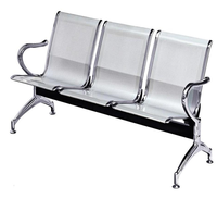 Furniture chair steel airport waiting chair office reception chair with table
