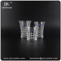 China wholesale market pressed glass goblets,pressed tumbler