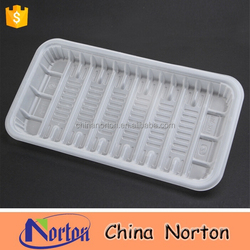PP food packaging plastic blister tray, disposable frozen food/meat/fruit/vegetable container NTPC- 247B