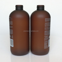 500ml 16oz frosted amber body lotion pet bottle for shampoo