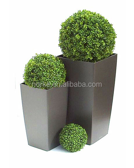 Artificial Topiary Grass Ball Buxus Balls in Planter