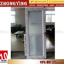 Double Glazed Design Upvc Fancy Foldable Used Office Interior Frosted Glass Doors