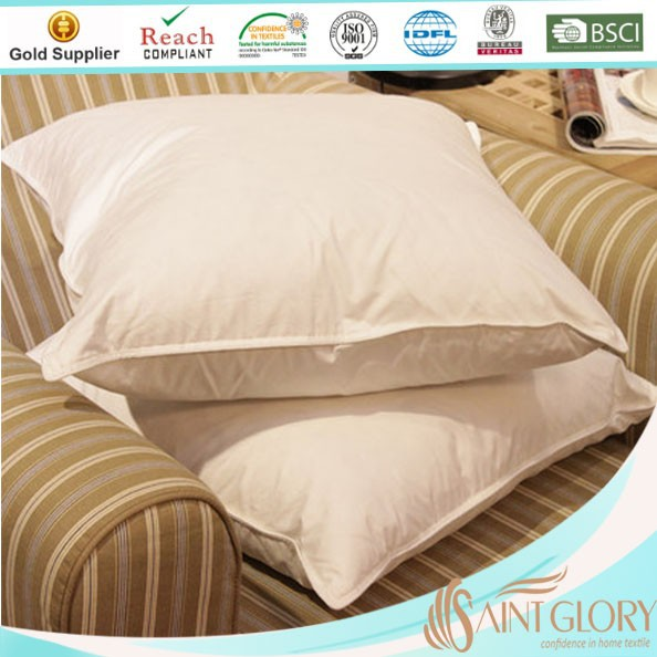 Feather down cushion and pillow for bedding