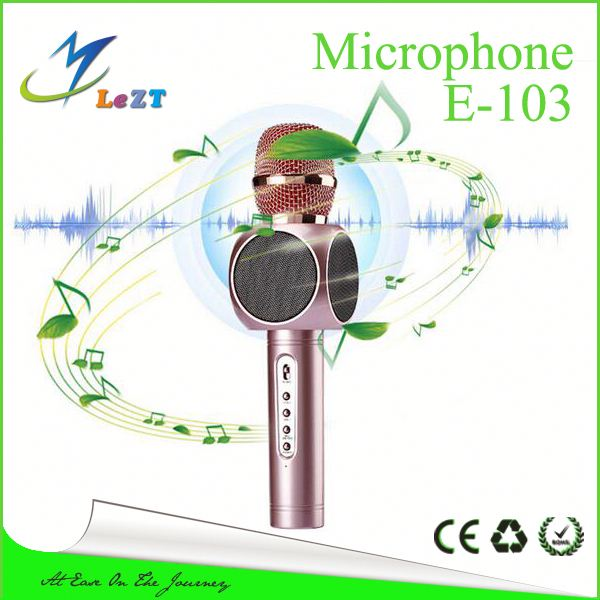 Smart mini karaoke microphone for Iphone/Android/PC/Tablet/PSP/MP3 Silver