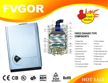home appliances instant shower wall mounted gas water hot heaters with display LCD gas boiler FG-GWF-1