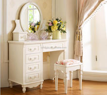 French Dressing Table White Mirrored Dresser Bedroom Furniture