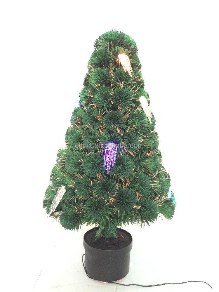 Classic Ice Decoration Optic Fiber Christmas Tree, Fiber Optic Star Ceiling Light