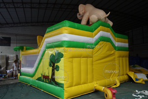 inflatable trampoline rental, air bouncer with slide for kids on sale