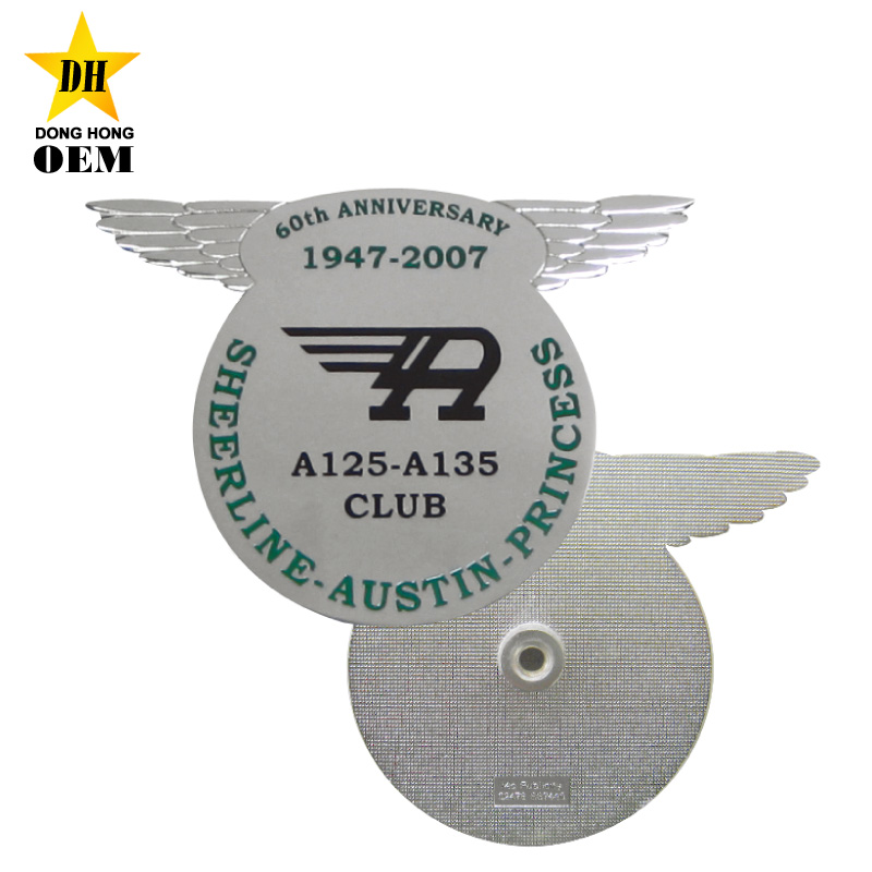pilot wing 3d car hood emblem front custom zinc alloy metal car grill badge