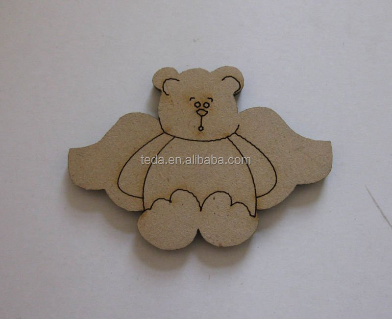 Cute mdf wood teddy bear craft