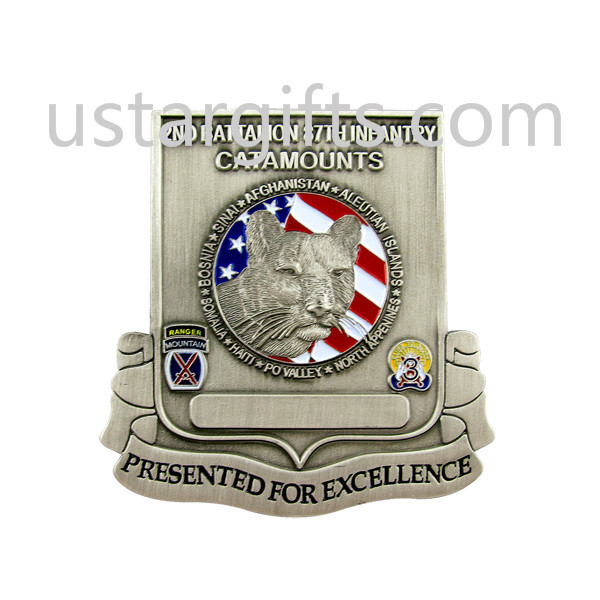 Quality free samples lion image challenge coins