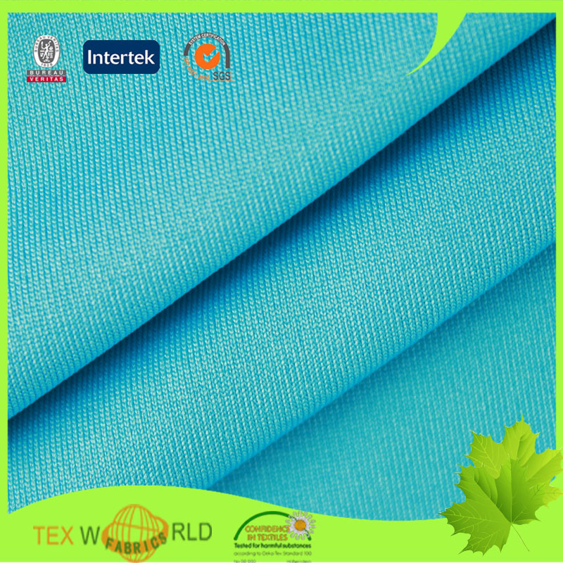 knitted stretch single jersey Polyester Spandex Fabric