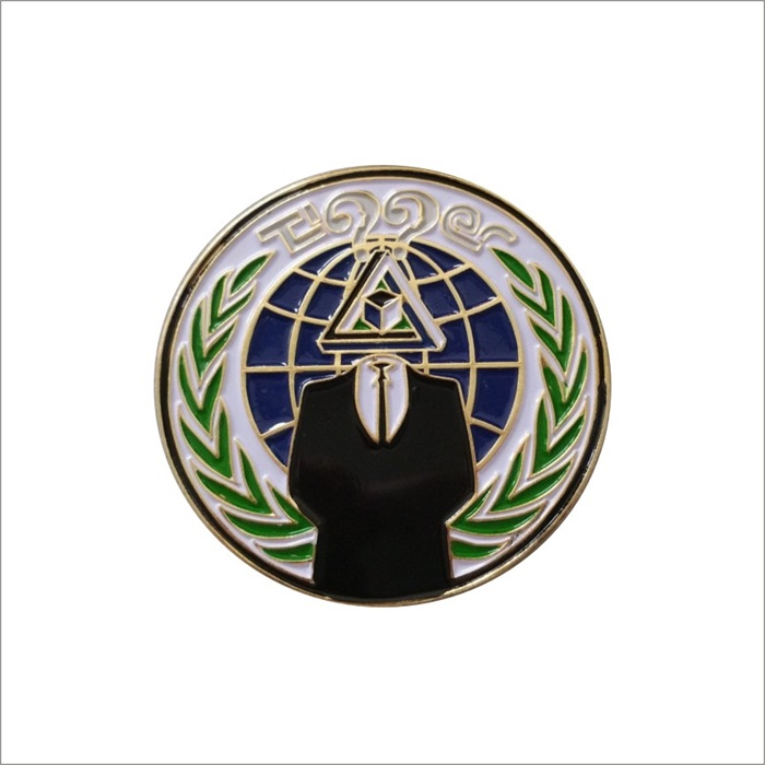 environmental protection subject pin badge custom brass emblem