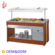 Wiberda commercial restaurant Pasta Cake Refrige Display Counter Stainless steel refrigerated salad bar