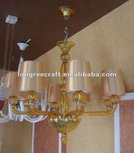 Modern Gold Colored Chandelier Crystals
