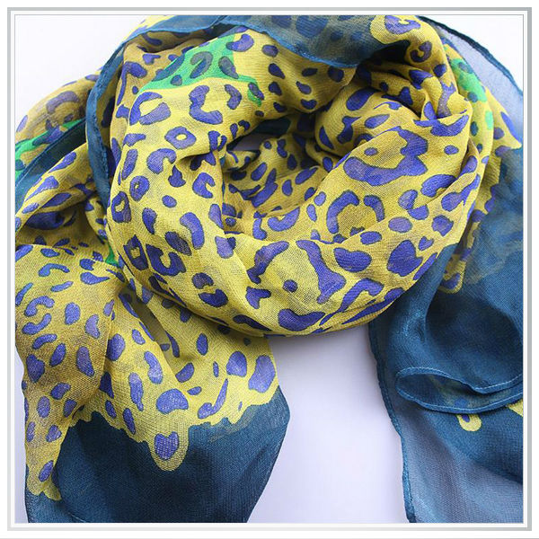 Individual design customized high quality digital printed 100% rayon voile scarves,thin fabric for summer