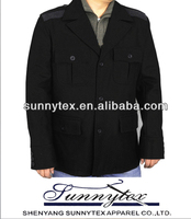 Winter turndown collar black wool varsity jackets
