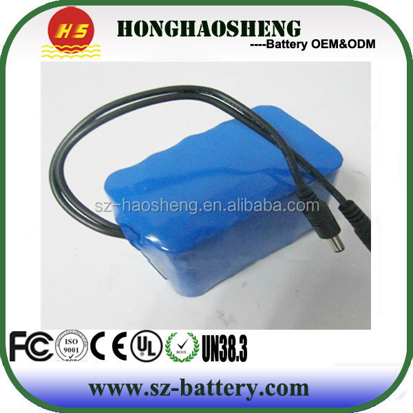 18650 li-ion rechargeable li-ion battery 12v 4ah for electric heating vest