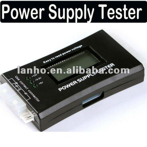 PC LCD Power Supply Tester 20/24 pin 4 SATA HDD Testers