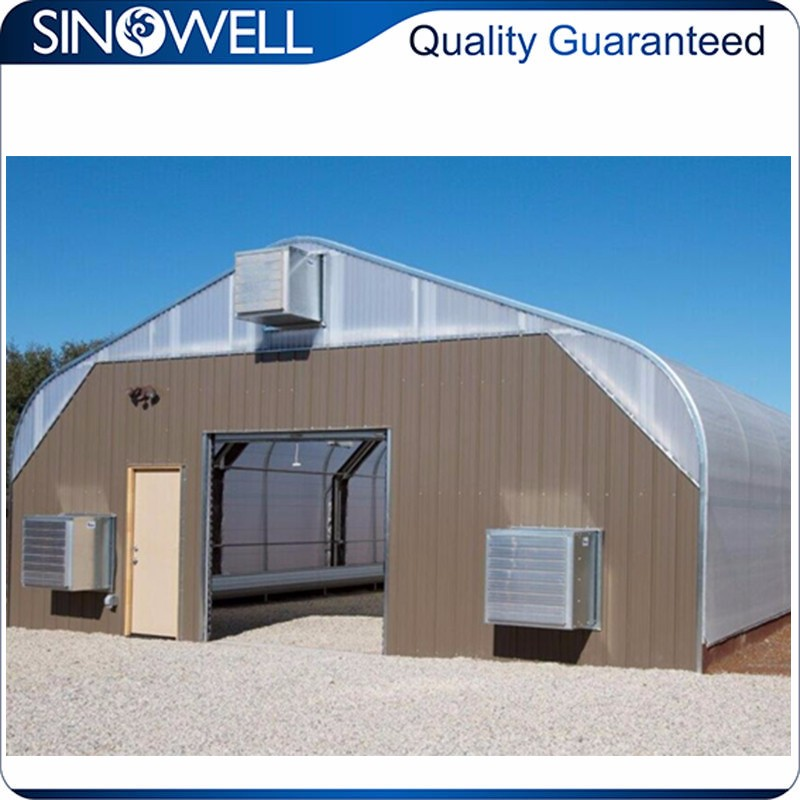 Factory Direct Supply galvanized steel frame greenhouse