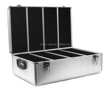 Aluminum portable 1000 cd dvd aluminum storage case