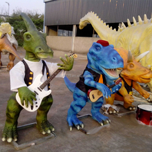 High Quality FRP realistic life-size dinosaur fiberglass statues for sales