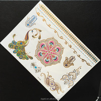 Hot mixed designs 21x12.7cm 2015 Non-toxic temporary metallic flash tattoos, diamond and jewelry tattoos