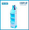 customized enviorment friendly shampoo cardboard floor display stand