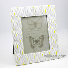 Cheap square white photo frames resin craft for home decoration