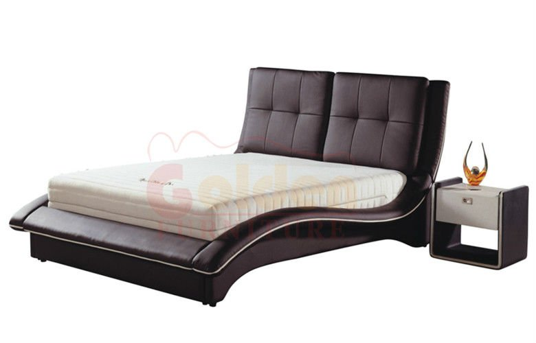 Foshan home design imports furniture cheap price leather bed (G814 ...