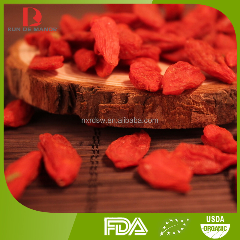 ningxia high quality organic dried goji berries