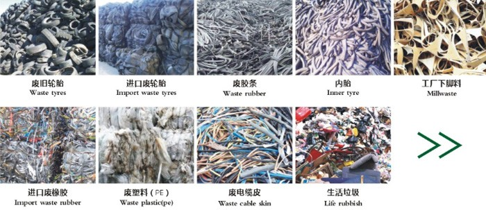 2017 Hot sale! Eco-friendly Rubber/Tyre /Plastic Waste to energy power plants