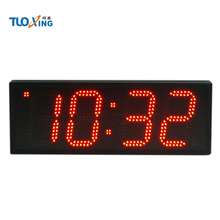 6 inch 4 digit red ultra bright outdoor led clock