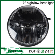 Most Popular 7 inch 30w High Low Beam Jeep Round Led Headlight 12v 24v